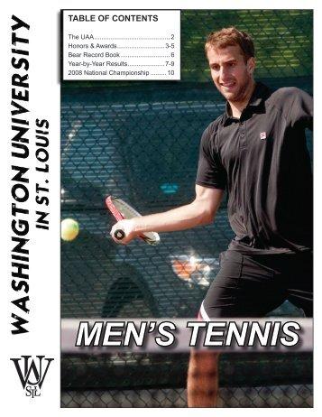 MEN'S TENNIS - Washington University in St. Louis Athletics