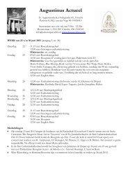 Augustinus Actueel - Orde der Augustijnen