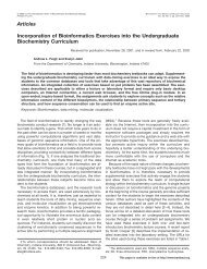 Articles Incorporation of Bioinformatics ... - Indiana University
