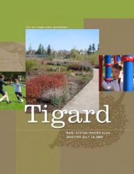 Tigard Park System Master Plan - City of Tigard