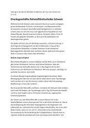 Drecksgeschäfte Rohstoffdrehscheibe Schweiz - Josef Lang