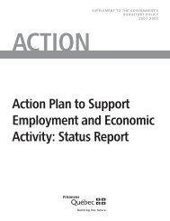 Action Plan to Support Employment and Economic Activity ... - Budget