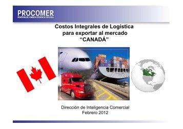 Logística de exportación a Canada, Febrero 2012 - Procomer