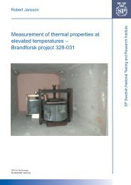 Measurement of thermal properties at elevated temperatures ...