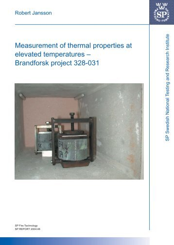 Measurement of thermal properties at elevated temperatures ...