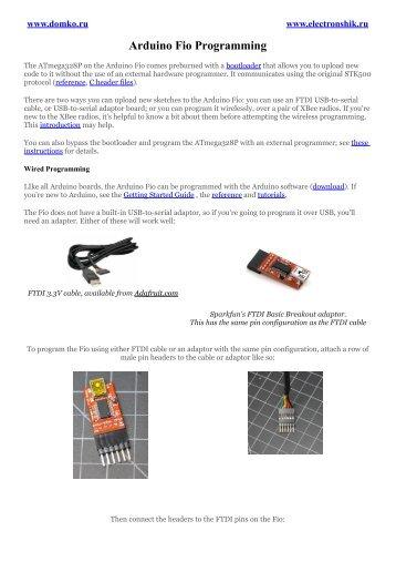 Arduino Fio Programming
