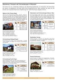 Gästezimmer, Pensionen und Ferienwohnungen in Hitzendorf