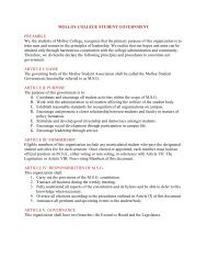 Molloy Student Government (MSG) Constitution - Molloy College