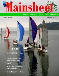 December 2013 Mainsheet - Corinthian Yacht Club of Tacoma
