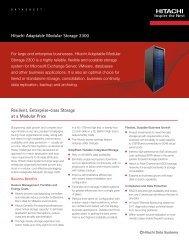 Hitachi Adaptable Modular Storage 2300 — Datasheet
