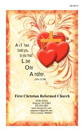 February 19 - First Christian Reformed Church