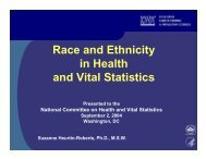 Race and Ethnicity in Health and Vital Statistics - National ...