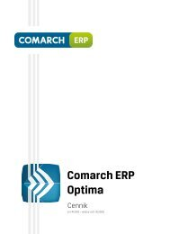 Comarch ERP Optima - JAWO-Projekt