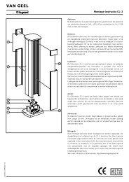 Montage-instructie CL-3 - Legrand