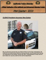 CPH – First Quarter 2013 - California Law Enforcement Historical ...