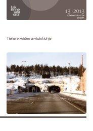 Tiehankkeiden arviointiohje - Liikennevirasto