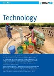 Technology issue sheet - WaterAid