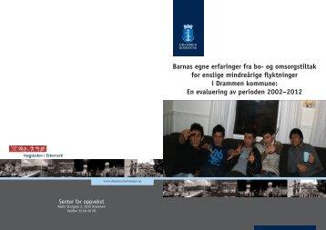 Rapporten kan du lese her. - Drammen kommune