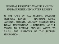 Indian Water Rights - Water Resources Board