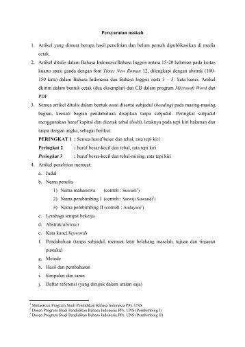 Persyaratan-jurnal-p.. - Program Pascasarjana UNS Solo - UNS