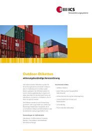 Outdoor-Etiketten - ICS International AG