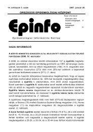 Epinfo - Epidemiológiai Információs Hetilap - 14. évf. 3. sz ... - EPA