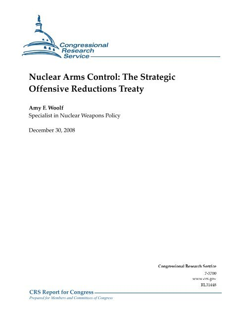 Nuclear Arms Control - PolicyArchive