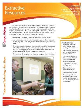 Extractive Resourcesfact sheet-new look.indd - Casper College