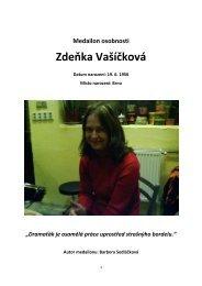 Medailon osobnosti Zdeňka Vašíčková - DIFA JAMU v Brně