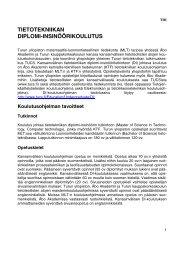 TIETOTEKNIIKAN DIPLOMI-INSINÖÖRIKOULUTUS - Turun yliopisto
