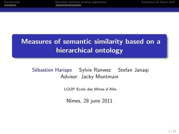 Measures of semantic similarity based on a hierarchical ... - LGI2P