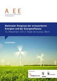 Nationaler Kongress der erneuerbaren Energien und ... - AEE SUISSE