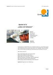 Quarks & Co   Leben mit Vulkanen - WDR.de