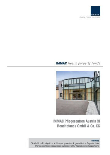 IMMAC Pflegezentren Austria XI Renditefonds GmbH & Co. KG