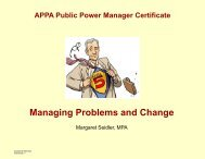 Managing Problems and Change
