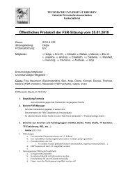 Öffentliches Protokoll der FSR-Sitzung vom 25.01.2010 - phpweb.tu ...