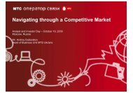 Navigating through a Competitive Market