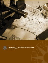2006 Annual Report - Humboldt Capital Corporation