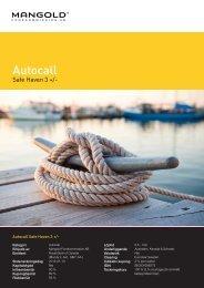 autocall safe haven 3 + - Mangold Fondkommission