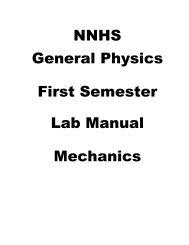 First Semester Lab Manual - Naperville Community Unit School ...