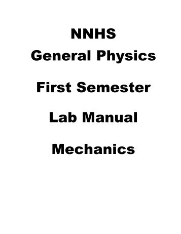 First Semester Lab Manual - Naperville Community Unit School ...
