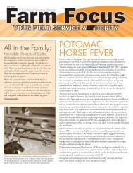 POTOMAC HORSE FEVER - The University of Tennessee College ...