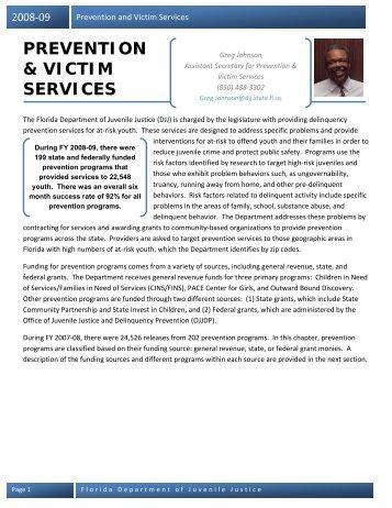 Prevention Services - Florida Department of Juvenile Justice