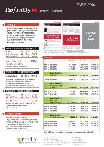 PFY newsl tarifs 2010_fl:PFY - ProFacility.be
