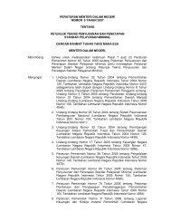 Permendagri 6 Tahun 2007 tentang Petunjuk Teknis Penyusunan ...