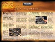 MMESA™ VAcUUM TUbES - Mesa Boogie