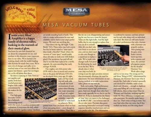 "MMESAâ""¢ VAcUUM TUbES - Mesa Boogie"