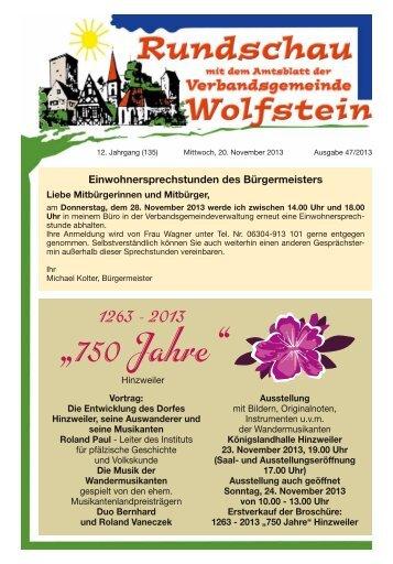 KW 47 - Verbandsgemeinde Wolfstein
