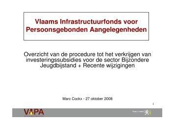 Vlaams Infrastructuurfonds voor ... - Vlaanderen.be