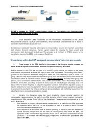 EFSA - European Banking Authority